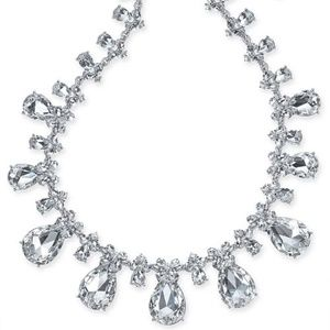 Charter Club Silver-tone Crystal necklace - New